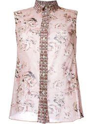 рубашка без рукавов с цветочным принтом Fay