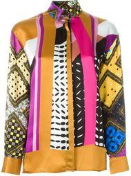 рубашка с комбинированным принтом Forte Couture