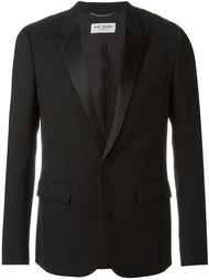 строгий пиджак с атласными лацканами Saint Laurent