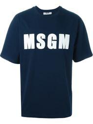 футболка с аппликацией логотипа  MSGM