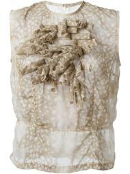 блузка с принтом и объемной аппликацией Comme Des Garçons