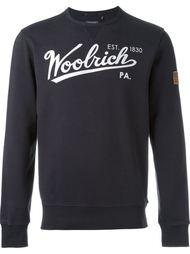 толстовка с принтом логотипа Woolrich