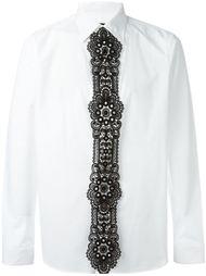 рубашка с кружевной вставкой  Burberry Prorsum