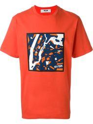 футболка с абстрактным принтом  MSGM
