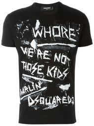 футболка с принтом-граффити Dsquared2