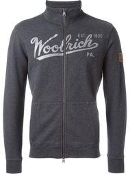 толстовка на молнии с принтом логотипа Woolrich