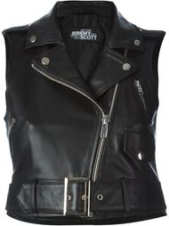 байкерская куртка без рукавов Jeremy Scott