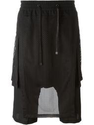 шорты с заниженной шаговой линией   D-Gnak