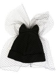 шапка-бини с бантом и вуалью Federica Moretti