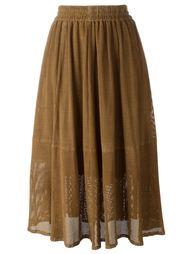 юбка с лазерной перфорацией  Muubaa