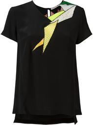 футболка с кружевной вставкой  Christopher Kane