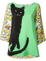 блузка с принтом кота Tsumori Chisato
