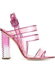 босоножки на каблуке с градиентным эффектом Aperlai