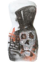 платье с принтом черепа из пайеток Faith Connexion
