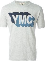 футболка с принтом-логотипом YMC