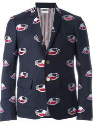 пиджак с заплатками в виде рыб Thom Browne