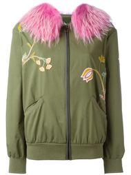 куртка со съемным меховым воротником Mr & Mrs Italy