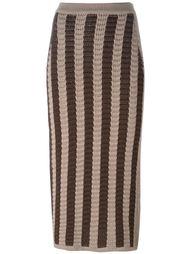 юбка-карандаш с полосатым узором Balmain