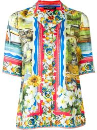 рубашка с ярким принтом Dolce & Gabbana