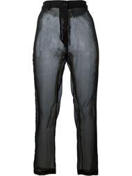 прозрачные брюки  Ann Demeulemeester