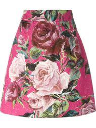 жаккардовая юбка с принтом роз Dolce & Gabbana