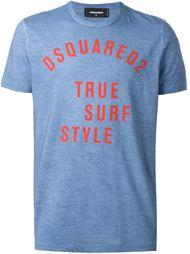 футболка с принтом логотипа   Dsquared2