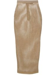 плетеная юбка-карандаш Balmain