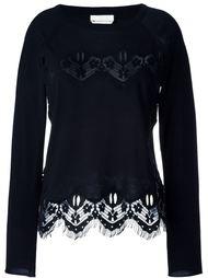 свитер с кружевными деталями Chloé