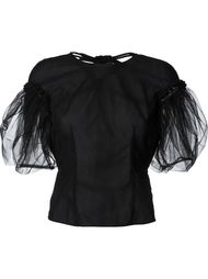 блузка со вставкой из тюля Simone Rocha