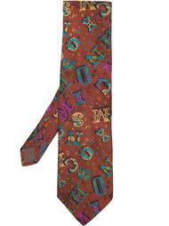 галстук с принтом букв Moschino Vintage