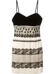 платье на бретелях с кружевной отделкой Christian Dior Vintage