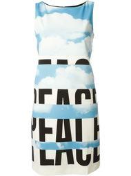 платье с принтом облаков Moschino Vintage