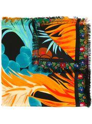 шарф с тропическим принтом Pierre-Louis Mascia