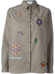 широкая рубашка с заплатками Mira Mikati