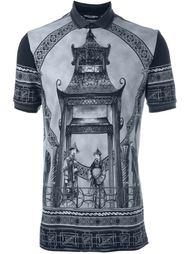 футболка-поло с принтом китайского храма Dolce & Gabbana