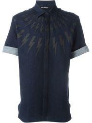 джинсовая рубашка с принтом Neil Barrett