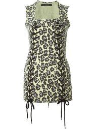 платье с леопардовым принтом   Sibling