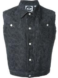 джинсовая жилетка с вышивкой Telfar