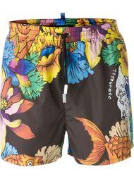 шорты для плавания с цветочным принтом Dsquared2 Beachwear