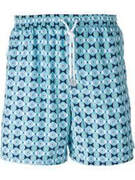 шорты для плавания с геометрическим принтом Kiton