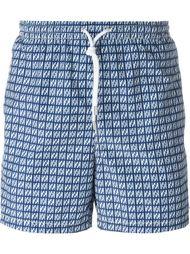 шорты для плавания с квадратным принтом Kiton