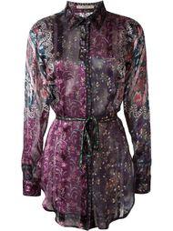 прозрачная рубашка с цветочным принтом Etro