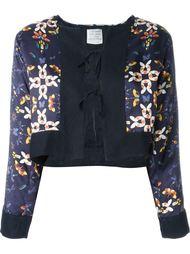 укороченная куртка с бабочками Forte Forte