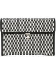 клатч с плетеным дизайном  Alexander McQueen