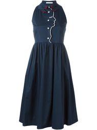 платье-рубашка с фигурной окантовкой Vivetta
