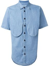 джинсовая рубашка с короткими рукавами 69