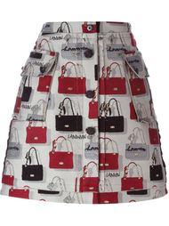 жаккардовая юбка А-образного силуэта  Lanvin