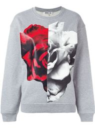 толстовка Split Rose Collage  McQ Alexander McQueen