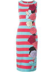 полосатое приталенное платье миди Antonio Marras