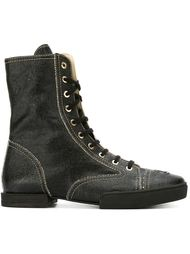 сапоги со шнуровкой Chanel Vintage